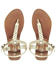 c754d7267ca6 Image 4 of New Look Gladice Gold Woven Leather Flat Sandals Gold Flat  Sandals
