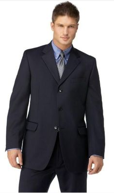 Men's Navy 3 Button Polyester affordable suit online sale | MensITALY  Price: US $109