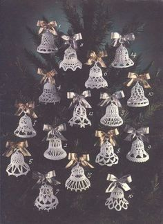 ideas for crochet facile noel Crochet Christmas Decorations, Crochet Ornaments, Xmas Ornaments, Christmas Crafts, Handmade Christmas, Crochet Snowflake Pattern, Christmas Crochet Patterns, Crochet Snowflakes, Crochet Angels