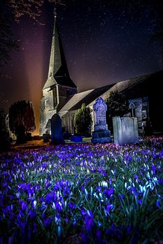 St Peter's Church, Scorton, under the stars St Peter's Church, Pictures Of The Week, Under The Stars, Landscape Photography, Landscapes, Mansions, Wall Art, House Styles, Prints