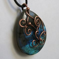 Tattooed tear pendant | JewelryLessons.com