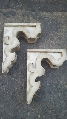 Paar Holz Konsolen rustikal Regal Klammern von LumberandLaceUS