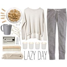 LAZY by tania-maria on Polyvore featuring moda, J.Crew, BOBBY, Witchery, CASSETTE, Vietri and Linea