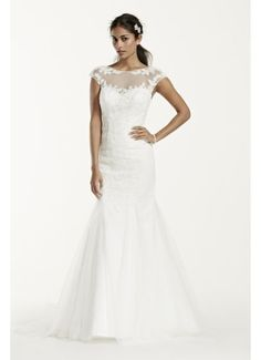 As-Is Tulle Over Satin Wedding Dress AI10030449
