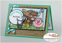 Stampin Up From the Herd for Stamping and Blogging