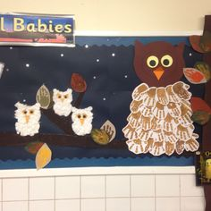 Owl babies display done in F2