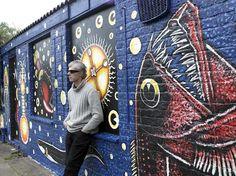 Bruce Mahalski - Trinity Buoy Wharf Mural