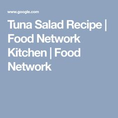 Tuna Salad Recipe |