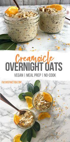 Breakfast Snacks, Savory Breakfast, Breakfast Recipes, Healthy Life, Healthy Snacks, Healthy Recipes, Easy Meal Prep, Easy Meals, Vegan Overnight Oats