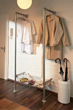 fixed clothing rail