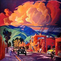 Taos Inn Monsoon by Alan Heuer
