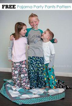 Pajama Party Pants FREE Sewing Pattern!