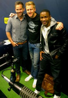 @janezvermeiren and @LungaShabalala were on the @CliffCentral show earlier this morning, getting interviewed by the whole team. They managed to squeeze in a Nokia Lumia moment with Gareth Cliff. #SeeMoreLumia