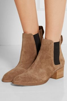 Heel measures approximately 40mm/ 1.5 inches Camel suede Pull on Imported