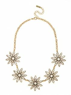 we love this vintage inspired floral motif collar