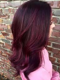 Resultado de imagen para cabello color borgoña corto