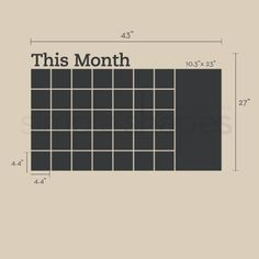 Chalkboard Wall Decal Monthly Calendar by SimpleShapes on Etsy