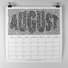 MWM : B/W Typography 2011 Calendar. by Matt W. Moore, via Behance
