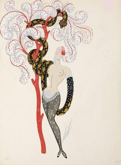 erté - 'temptress' costume design for play 'the light-minded woman'