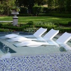 Elegant Contemporary Outdoor Chaise Lounges