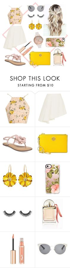 """""""Untitled #153"""" by karmicakarmen ❤ liked on Polyvore featuring Glamorous, Marni, Carlos by Carlos Santana, Tory Burch, Casetify, Velour Lashes, Chloé, Christian Dior and Olivia Burton"""