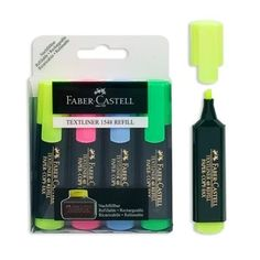 Μαρκαδόροι Υπογράμμισης FABER-CASTELL - 4 τμχ. Faber Castell, Paper