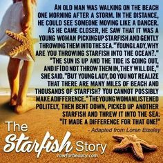starfish story on pinterest social work quotes