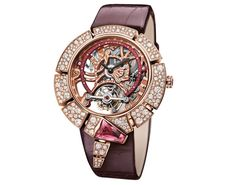 Bulgari Serpenti Incantati Tourbillon Squelette or rose Bvlgari Gold, Bvlgari Serpenti, Datejust Rolex, Bvlgari Watches, Luxury Watches, Bulgari Jewelry, Jewellery, Tourbillon Watch, Skeleton Watches