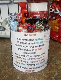 """Graduation gift - Could also have AW Root beer for the word """"AWesome"""""""