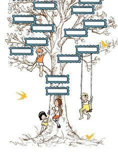 Children's family tree wall art from Sarah Jane Studios. It is a three generation pedigree chart that you fill in. Family Tree Print, Family Tree Chart, Family Trees, Family Kids, Wall Art Prints, Fine Art Prints, Backgrounds Wallpapers, Pedigree Chart, Childrens Wall Art
