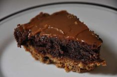 brownie pie with a cookie crust and carmel topping... this will probably kill you with a bite