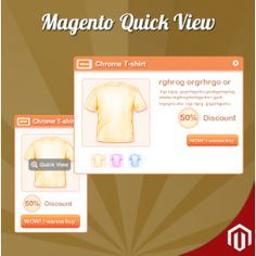 Product Quick View for Magentocommerce Shows the Product options in a dialog popup.