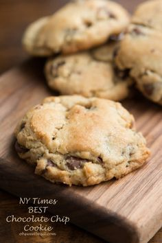 The NY Times voted this the BEST chocolate chip cookie recipe ohsweetbasil.com