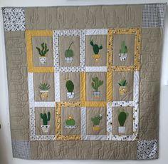 Kaktustæppe syet efteråret 2017 - eget design.