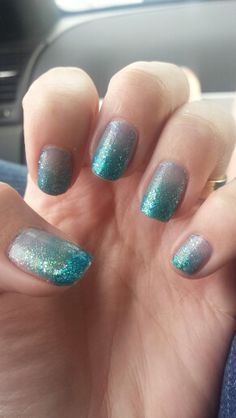 Disneys Frozen inspired nails