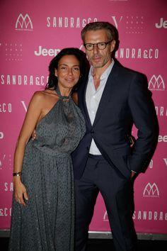 Sandra Zeitoun et Lambert Wilson dans la Suite Présidentielle Sandra & Co au Five Seas Hotel Cannes.