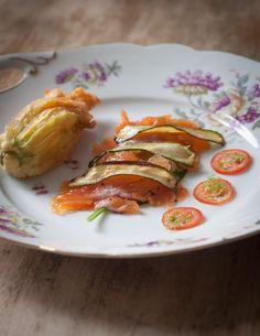 Lachsforelle | Zucchini | Tomate