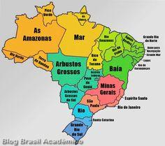 Tradução dos nomes dos estados brasileiros | Brasil Acadêmico