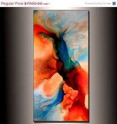 Large Abstract Painting Original Abstract by newwaveartgallery, $5600.00