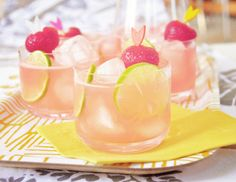 pretty chick drinks...i guess be creative with what the drink is ?strawberry limeade?  couldn't track down the images origin to find the recipe, but it's pretty