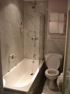Very Narrow Bath open shower. you want a separate shower and tub but you only have
