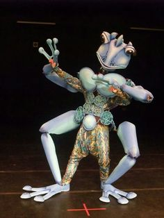 Using this idea to make the cicadas and make them larger than life sized. Giant Frog Puppet