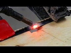 Welding A Broken Band Saw Blade (And Other Fun Stuff) - YouTube
