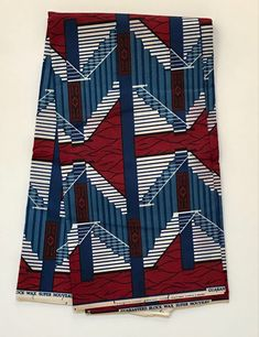 African Print Fabric/ Ankara Red White Blue 'Step in Bold Jewelry, African Fabric, Custom Pillows, Main Colors, Red White Blue, Ankara, Etsy Store, Printing On Fabric, Diy And Crafts