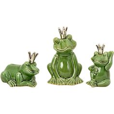 3 Piece Prince Charming Frog Statue Set With Emma Godwin, Kayla Burke, I found y'all's  Prince Charming !! ;)