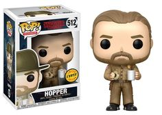 POP! TV #512: Stranger Things: HOPPER (with donut) [WITHOUT HAT} - Chase Limited Edition