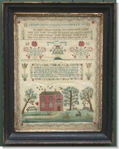 ELIZABETH SPURING 1826 ~ Reminds me of a sampler my friend Naomi stitched in the 1980s