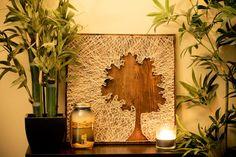 Tree Silhouette String Art