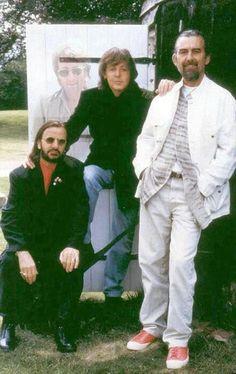 The Beatles ~ Ringo Starr, Paul McCartney and George Harrison.
