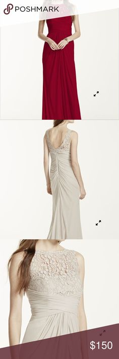 Formal Gown Formal Gown bought from David's Bridal. Sleeveless long mesh dress with corded lace. Dresses Maxi
